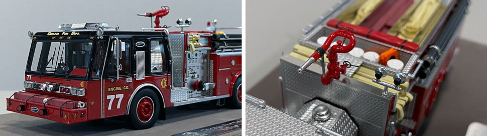 Close up images 9-10 of Chicago E-One Hurricane Engine 77 scale model