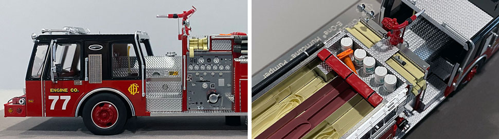 Close up images 1-2 of Chicago E-One Hurricane Engine 77 scale model