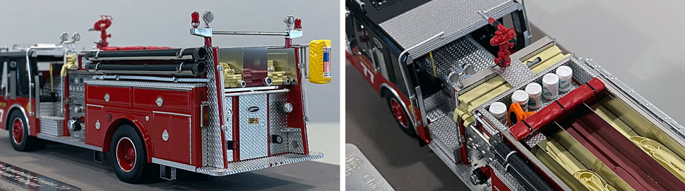 Close up images 11-12 of Chicago E-One Hurricane Engine 77 scale model