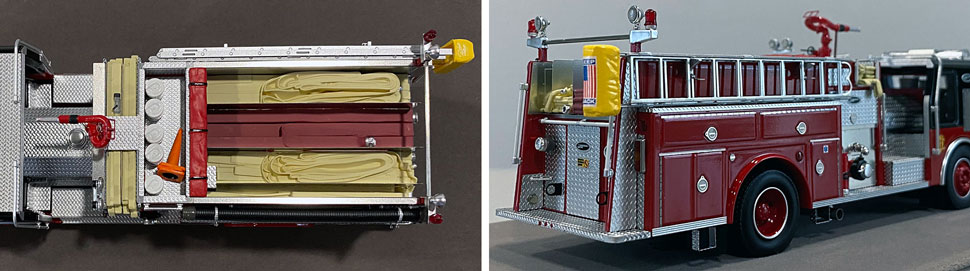 Close up images 5-6 of Chicago E-One Hurricane Engine 77 scale model