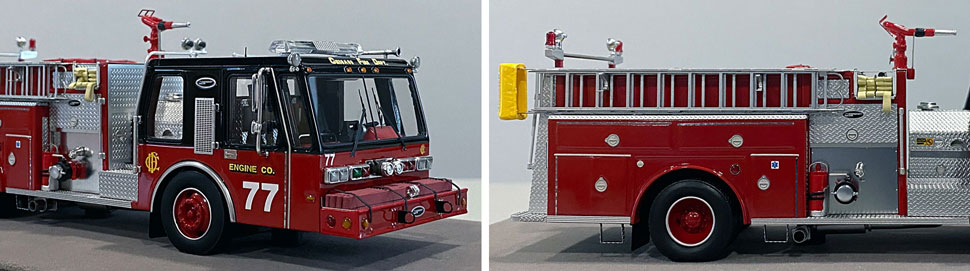Close up images 13-14 of Chicago E-One Hurricane Engine 77 scale model