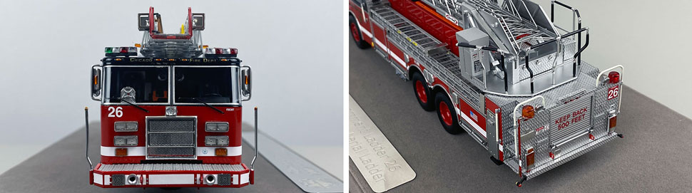 Closeup pics 7-8 of Chicago Fire Department Pierce Truck 26 scale model