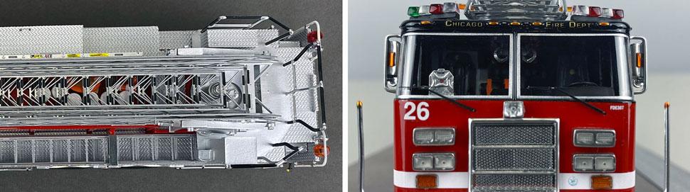 Closeup pics 13-14 of Chicago Fire Department Pierce Truck 26 scale model