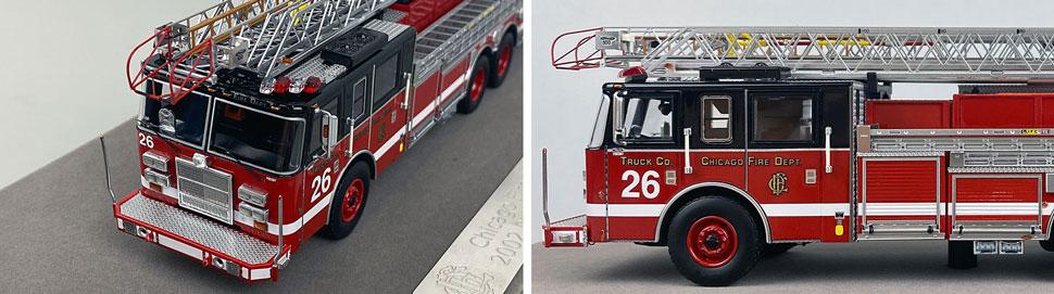 Closeup pics 11-12 of Chicago Fire Department Pierce Truck 26 scale model