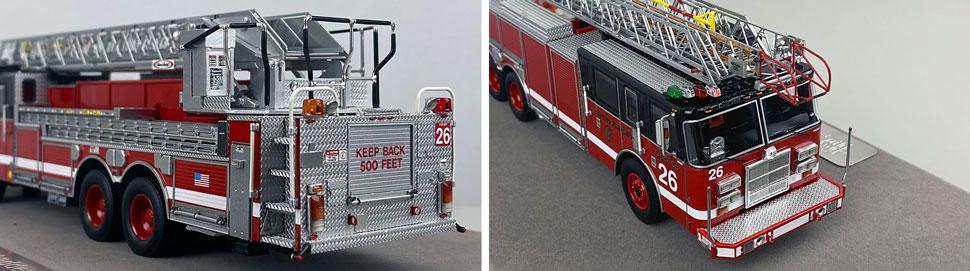 Closeup pics 3-4 of Chicago Fire Department Pierce Truck 26 scale model