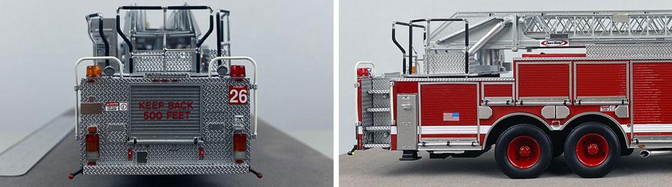 Closeup pics 5-6 of Chicago Fire Department Pierce Truck 26 scale model