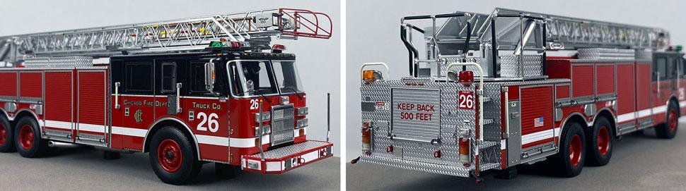 Closeup pics 9-10 of Chicago Fire Department Pierce Truck 26 scale model