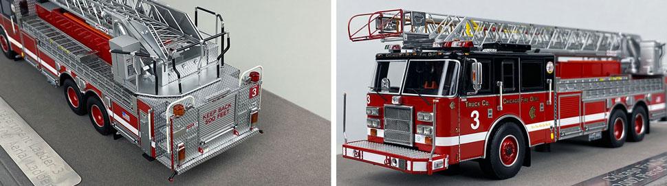 Closeup pics 5-6 of Chicago Fire Department Pierce Truck 3 scale model