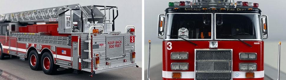 Closeup pics 3-4 of Chicago Fire Department Pierce Truck 3 scale model
