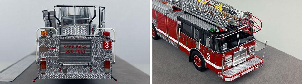 Closeup pics 9-10 of Chicago Fire Department Pierce Truck 3 scale model
