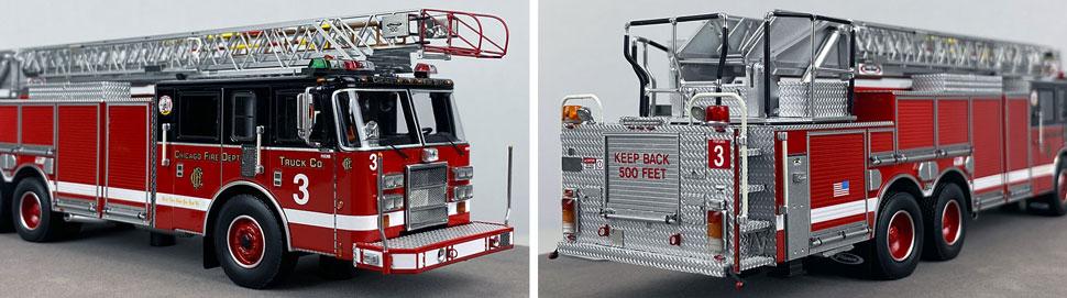 Closeup pics 1-2 of Chicago Fire Department Pierce Truck 3 scale model