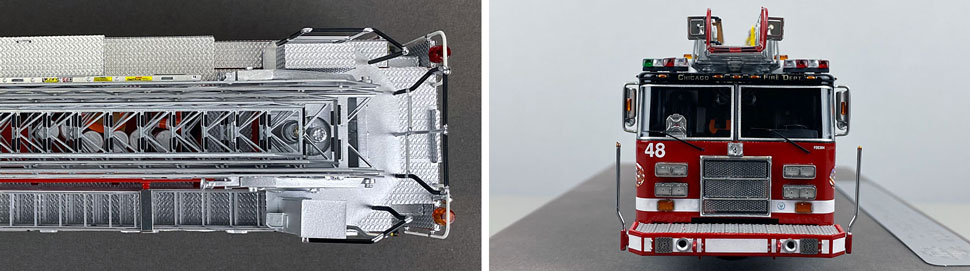 Closeup pics 13-14 of Chicago Fire Department Pierce Truck 48 scale model