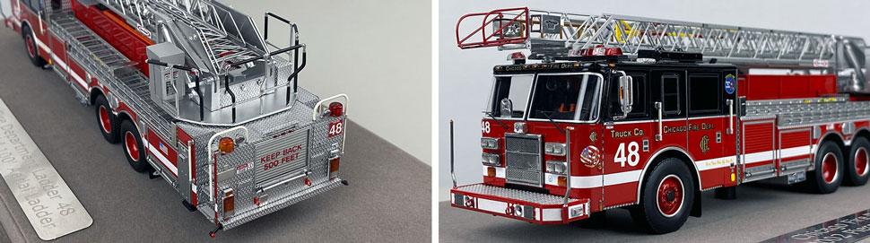Closeup pics 11-12 of Chicago Fire Department Pierce Truck 48 scale model