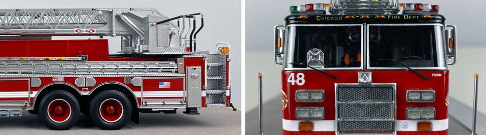 Closeup pics 5-6 of Chicago Fire Department Pierce Truck 48 scale model