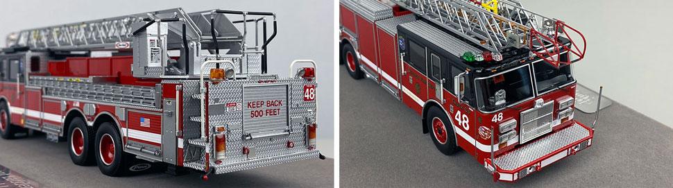 Closeup pics 9-10 of Chicago Fire Department Pierce Truck 48 scale model