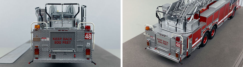 Closeup pics 3-4 of Chicago Fire Department Pierce Truck 48 scale model