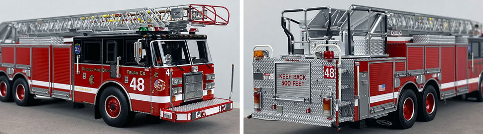Closeup pics 7-8 of Chicago Fire Department Pierce Truck 48 scale model