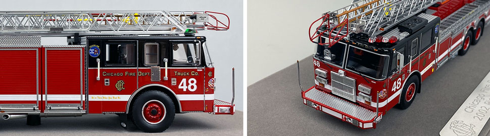 Closeup pics 1-2 of Chicago Fire Department Pierce Truck 48 scale model