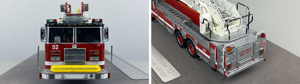 Closeup pics 13-14 of Chicago Fire Department Pierce Truck 52 scale model