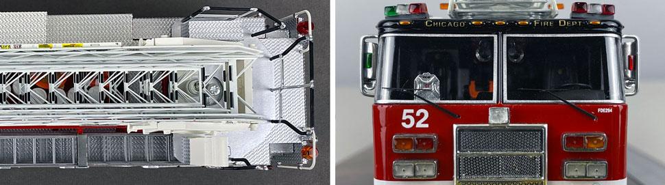 Closeup pics 11-12 of Chicago Fire Department Pierce Truck 52 scale model
