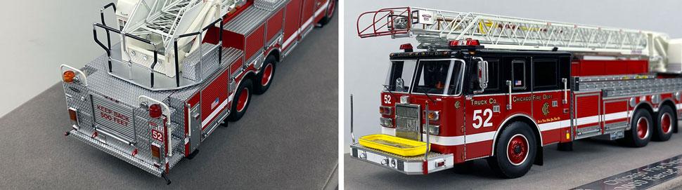 Closeup pics 9-10 of Chicago Fire Department Pierce Truck 52 scale model