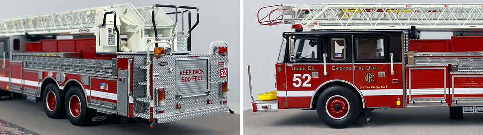 Closeup pics 7-8 of Chicago Fire Department Pierce Truck 52 scale model