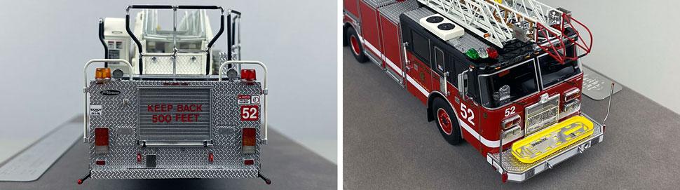 Closeup pics 5-6 of Chicago Fire Department Pierce Truck 52 scale model