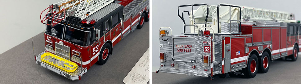 Closeup pics 3-4 of Chicago Fire Department Pierce Truck 52 scale model
