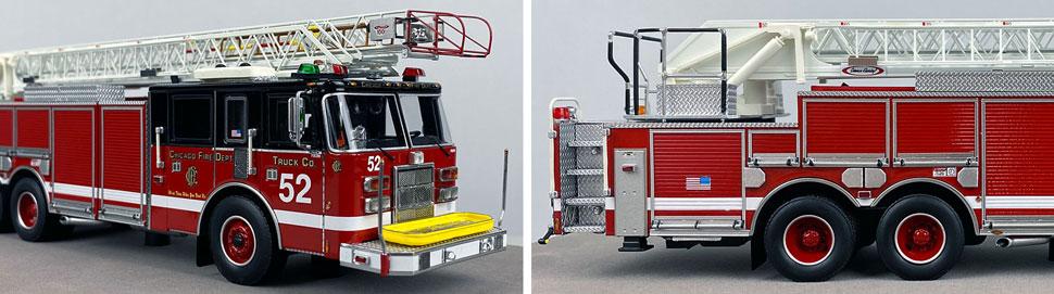 Closeup pics 1-2 of Chicago Fire Department Pierce Truck 52 scale model