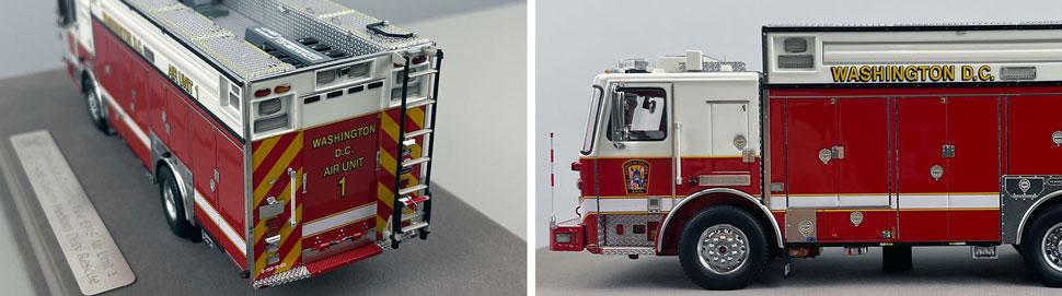Close up images 3-4 of DC Fire & EMS KME Air Unit 1 scale model