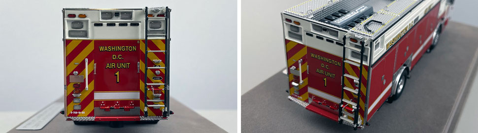 Close up images 11-12 of DC Fire & EMS KME Air Unit 1 scale model