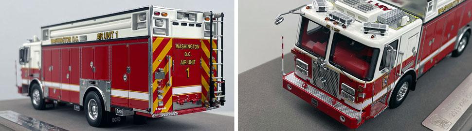 Close up images 13-14 of DC Fire & EMS KME Air Unit 1 scale model