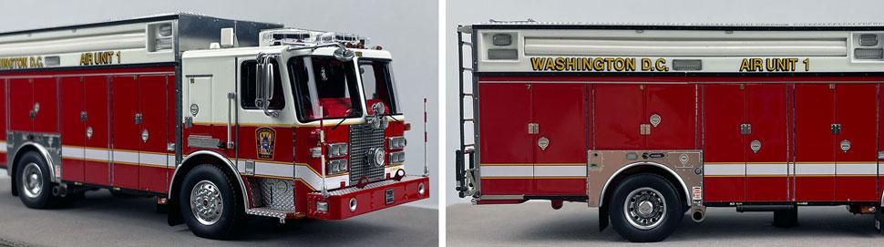 Close up images 7-8 of DC Fire & EMS KME Air Unit 1 scale model