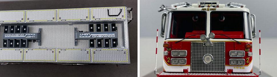 Close up images 13-14 of DC Fire & EMS KME Air Unit 2 scale model