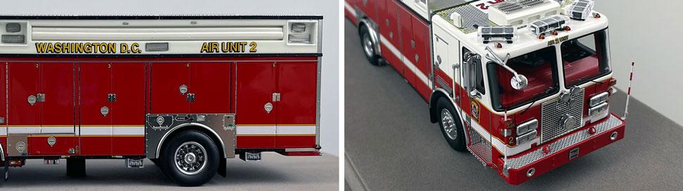 Close up images 5-6 of DC Fire & EMS KME Air Unit 2 scale model