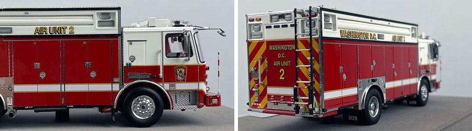 Close up images 11-12 of DC Fire & EMS KME Air Unit 2 scale model