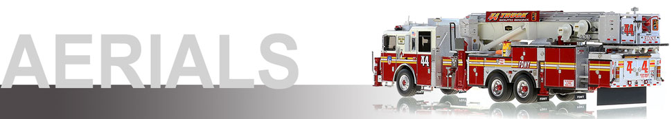 Shop 1:50 Aerial scale model fire trucks including FDNY Tower Ladder 44