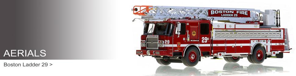 Aerials scale model replicas including Boston Ladder 29