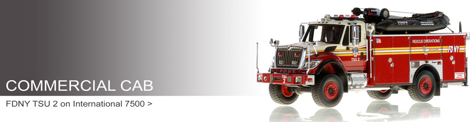 Commercial Cab fire truck scale models