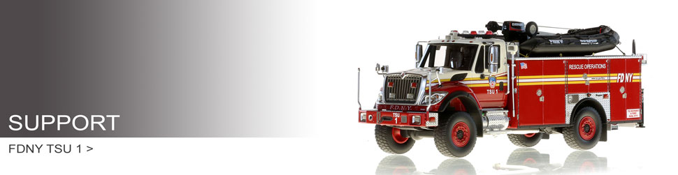 Shop Support Vehicle scale models including FDNY TSU 1