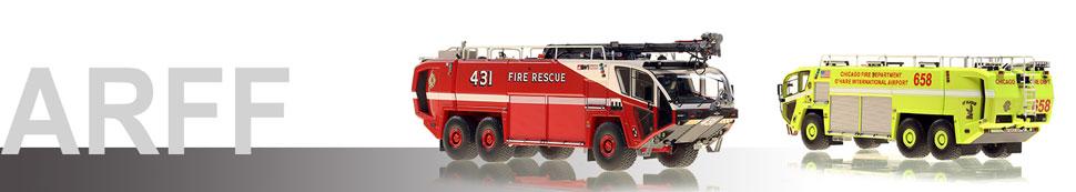 Museum grade 1:50 scale ARFF Crash trucks