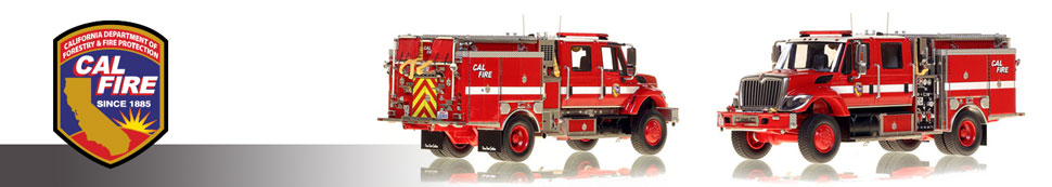 CAL FIRE museum grade scale models in 1:50 scale