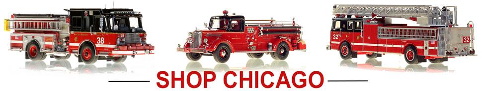 Shop Chicago Fire Department scale model fire trucks
