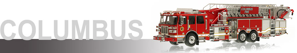 1:50 Columbus Division of Fire scale model fire trucks