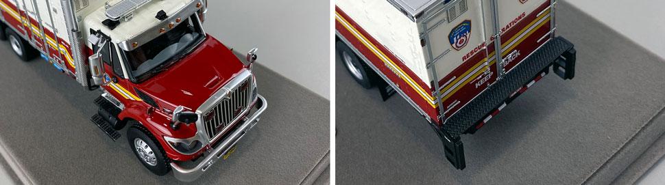 Closeup pics 7-8 of FDNY Rescue Operations Logistics 1 scale model