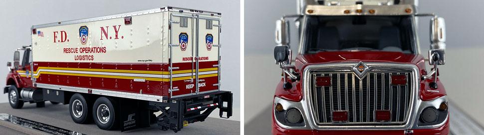 Closeup pics 11-12 of FDNY Rescue Operations Logistics 1 scale model