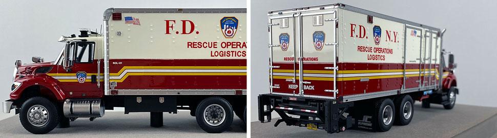 Closeup pics 13-14 of FDNY Rescue Operations Logistics 1 scale model