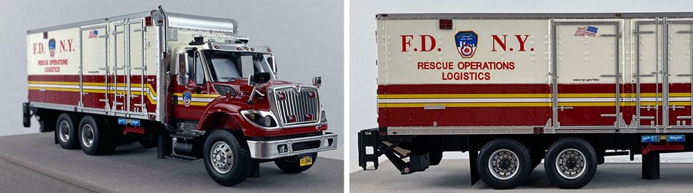 Closeup pics 1-2 of FDNY Rescue Operations Logistics 1 scale model