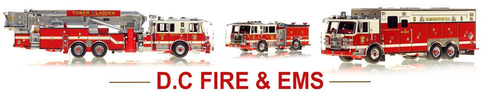 Shop DC Fire & EMS scale model fire trucks