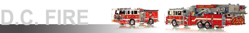 Washington D.C. Fire & EMS 1:50 scale models